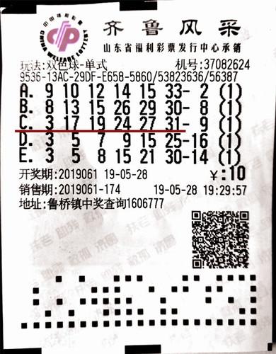 男子10元机选号命中双色球32万:马上买辆车!