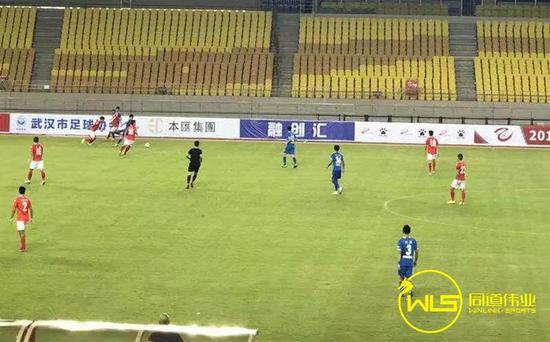50分钟,武汉三镇,3号刘浩进球,1-0