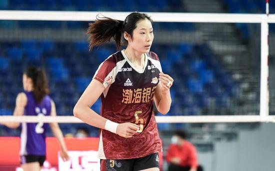 朱婷率领的天津女排是夺冠热门。图/Osports