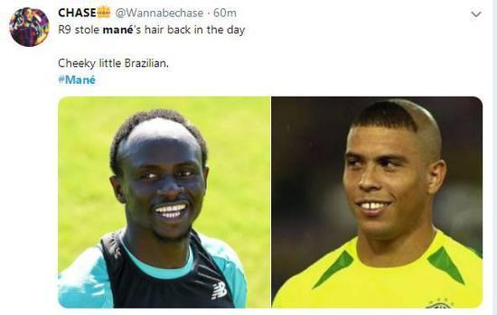 就挺秃然的!马内发型抢镜 神评:大罗偷他头发