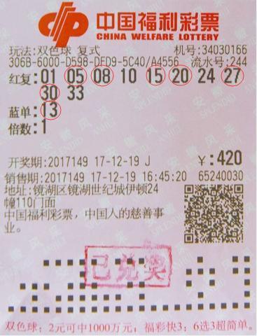 紧随合买热潮 17位彩友收获双色球奖金545万-票