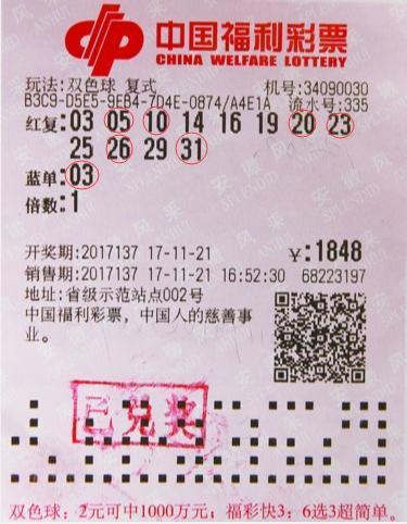 13年彩票老司机命中双色球1307万 自称断蓝高手