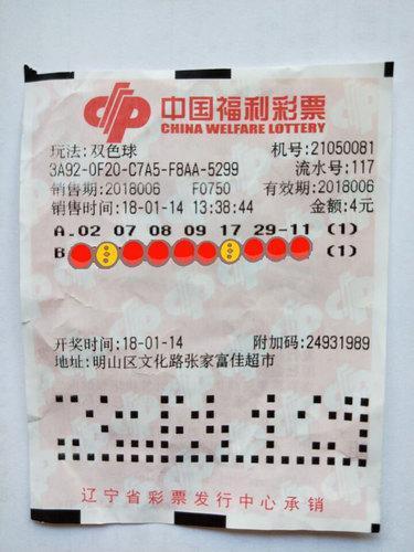 资深彩民选号全凭感觉 4元小单命中双色球685万