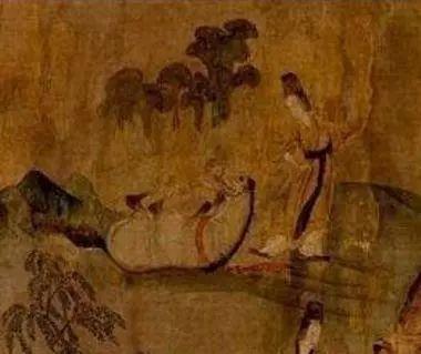 顾恺之《洛神赋图》中四足仰天的马