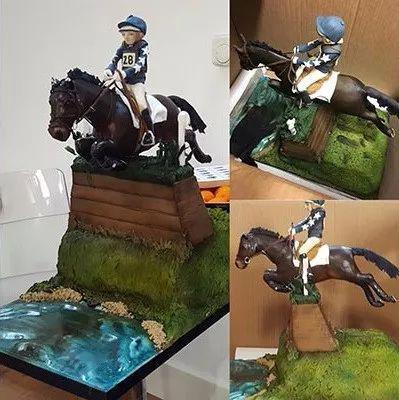 ▲图/H&H,露辛达为丽莎定制的生日蛋糕,马匹是Malin Head Clover