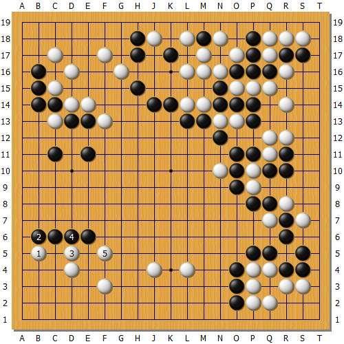 变化图9:本图的着法很俗,实在是觉得有点下不出手,但事后看优于实战。