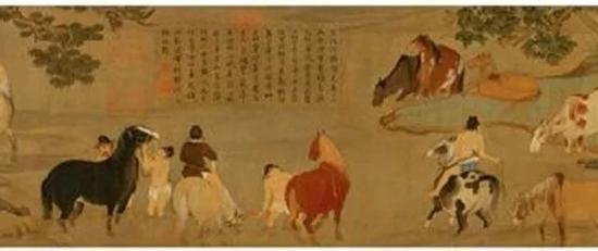 赵孟頫《浴马图》
