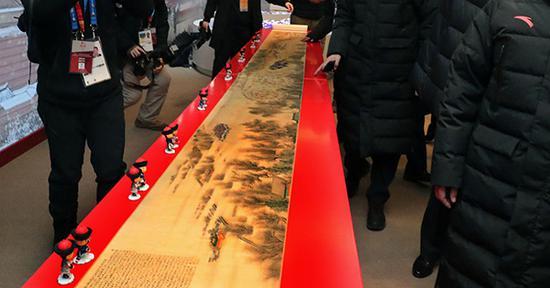 """""""中国之家""""内展出的国画。"""