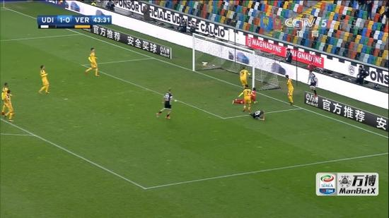 图:万博manbetx赞助意甲第18轮乌迪内斯vs维罗纳比赛场面