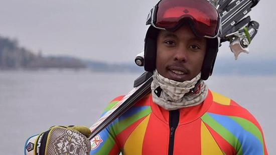 厄立特里亚第一位冬奥选手香浓·阿贝达(Shannon Abeda)。
