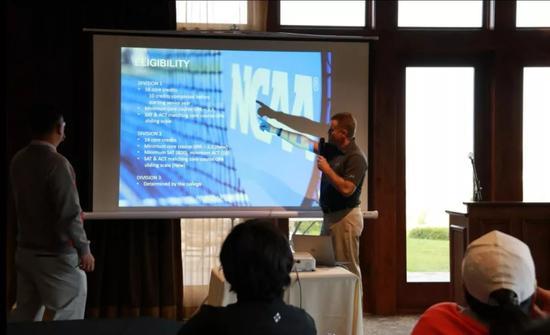 IMG学院高尔夫教学总监为青少年解析大学申请流程