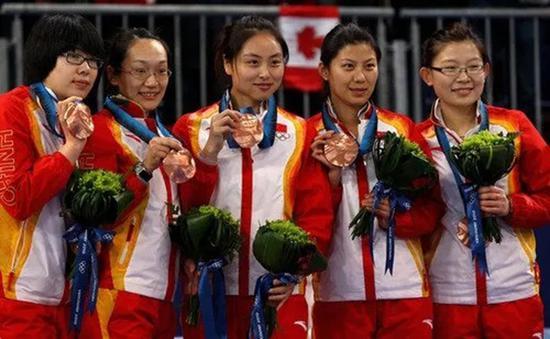 中国女子冰壶队。
