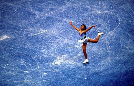 1994年,利勒哈默尔冬奥会上的陈露。