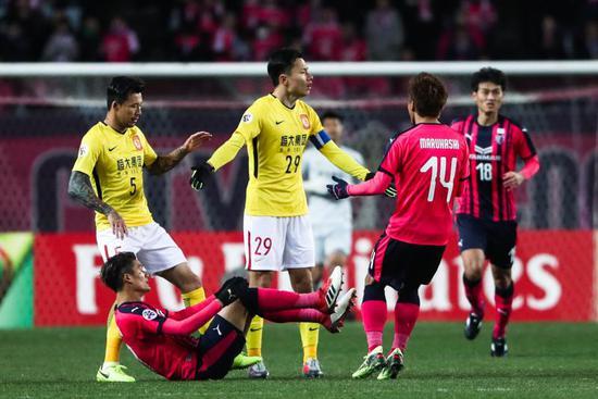 图说:2018亚冠小组赛G组:大阪樱花0-0广州恒大淘宝,恒大小组出线形势不容乐观。