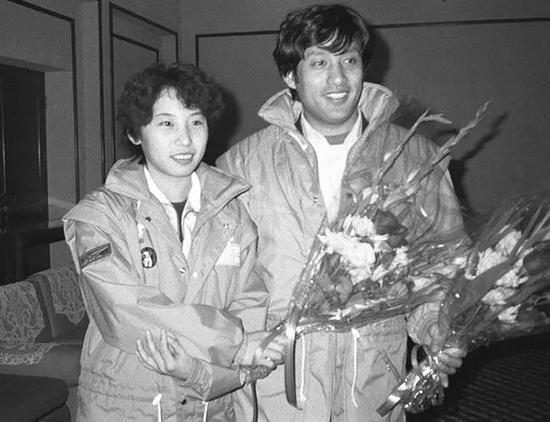 李琰30年前冬奥会的老照片。