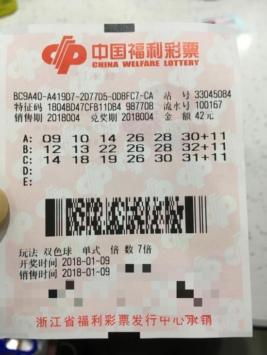 男子42元中双色球4257万 给老婆报喜却被骂-票