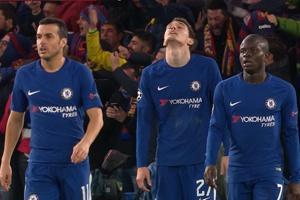 梅西首破蓝军救主 切尔西两中柱1-1巴萨