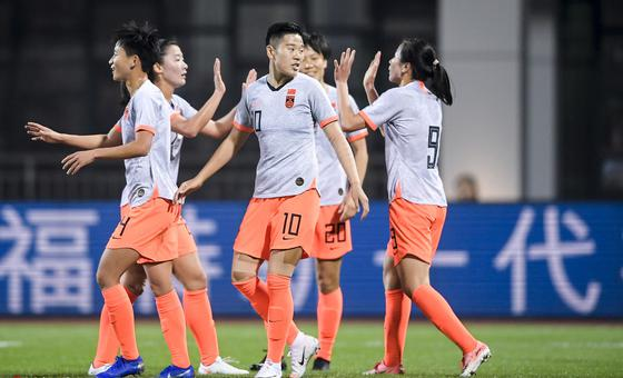 [热身赛]中国女足4-1俄罗斯