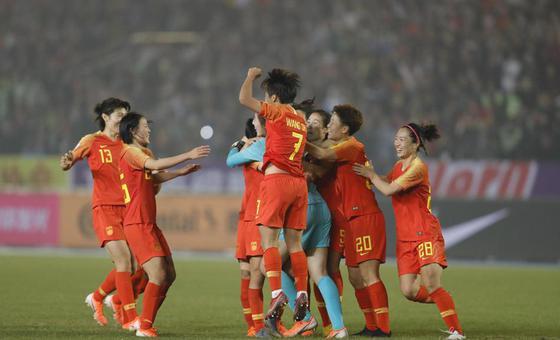新浪直击中国女足击败巴西夺冠