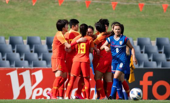 [奥预赛]中国女足5-0中国台北