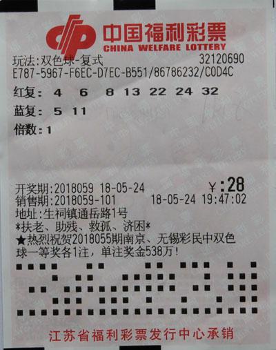 彩民28元揽双色球821万:准备去福利院资助孤儿_彩票