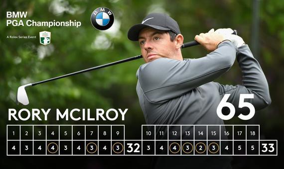 视频-麦克罗伊7鸟无博忌65杆 领跑欧洲PGA锦标赛