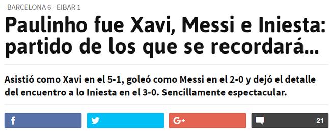 西班牙媒体被保利尼奥折服