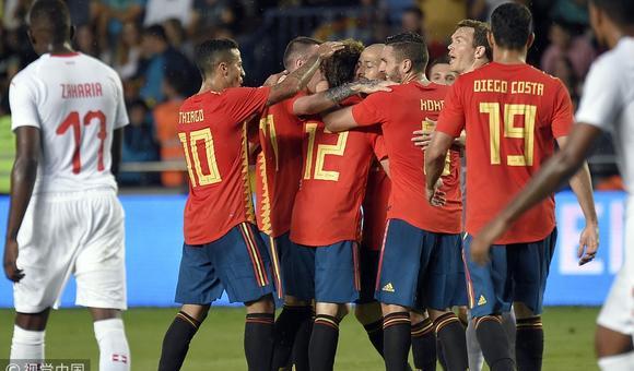 $热身-曼城真核助攻 西班牙1-1平