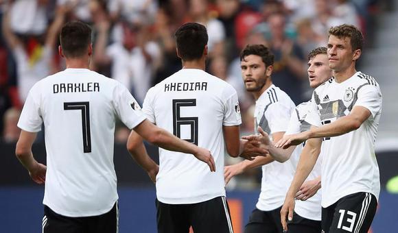 $热身-罗伊斯助攻 德国2-1胜