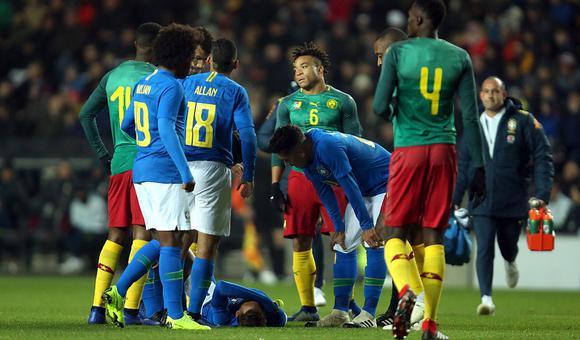 $热身赛-内马尔伤退 巴西1-0