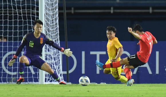 $最后丢球被绝杀 国奥0-1憾负韩国