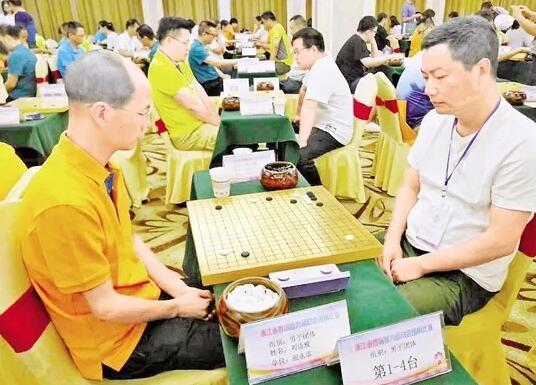 7月16日,省智力运动会围棋比赛预赛在丽水举行