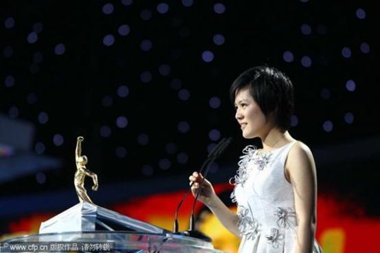 侯逸凡获得2010CCTV体坛风云人物最佳非奥奖项