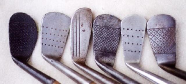 高尔夫收藏与历史之49 胡桃木铁杆的杆面条纹