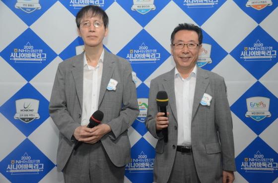 金钟秀和金东勉赛后采访