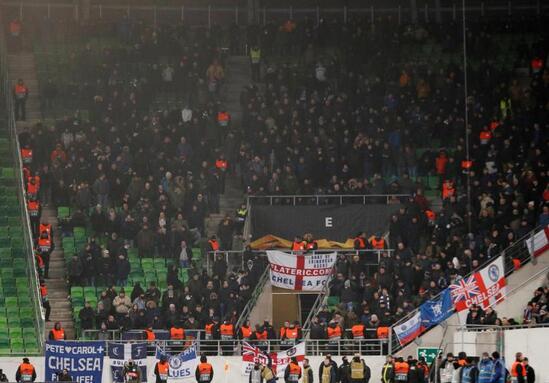 切尔西部分球迷又在客场惹事