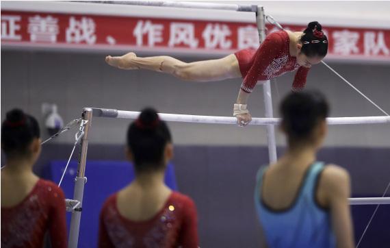 体能上台阶难度有突破 中国体操队备战奥运不松劲