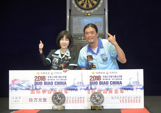 韩世昌(右)和周莫默(左)共同祝贺夺冠