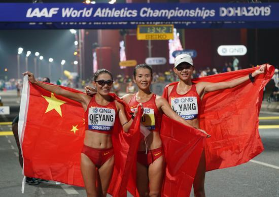 世锦赛刘虹20公里竞走夺冠