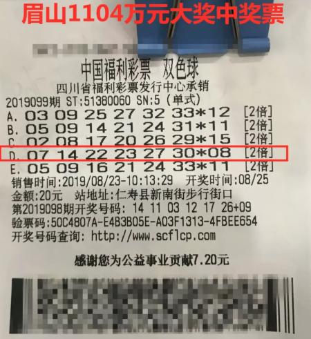 小夫妻喜提双色球头奖1104万 不松懈要继续打拼