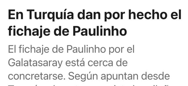 保利尼奧即將簽約加拉塔薩雷 他的愿望是留在歐洲