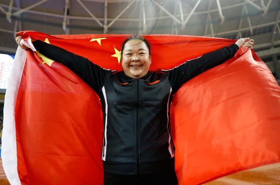 王峥在赛后庆祝胜利 新华社记者王丽莉摄