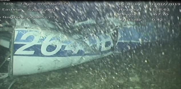 萨拉所乘飞机残骸照片