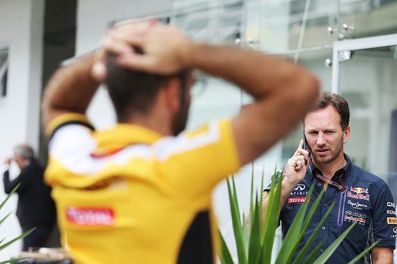 雷诺F1主管阿比特布尔、红牛领队霍纳
