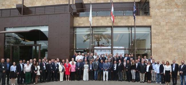 國際摩聯第91屆年會成員合影,每屆年會結束,所有代表都將在年會召開地進行合影留念