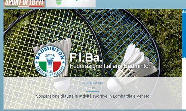 疫情升级全国进入紧急状态 意大利青年羽球赛叫停