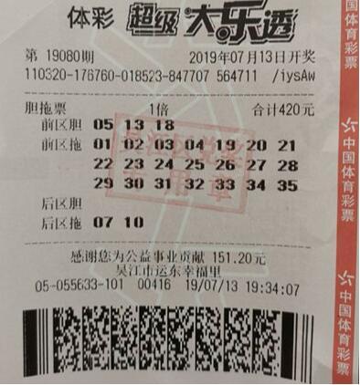 小老板420元揽大乐透31万 实力+运气等到大奖