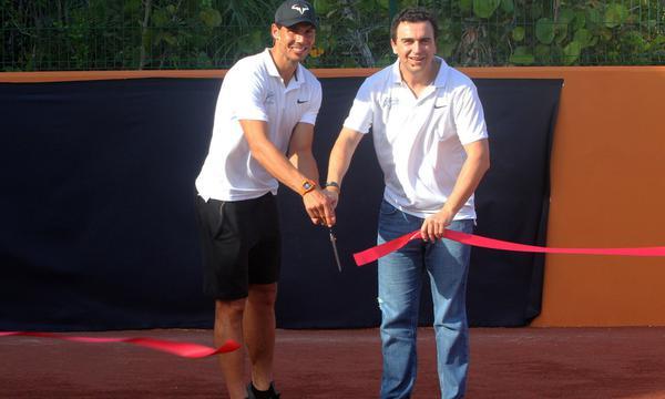 高清-纳达尔坎昆网球中心启动仪式