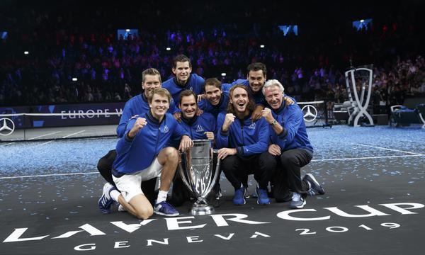 高清-拉沃尔杯费德勒纳达尔率欧洲队夺冠