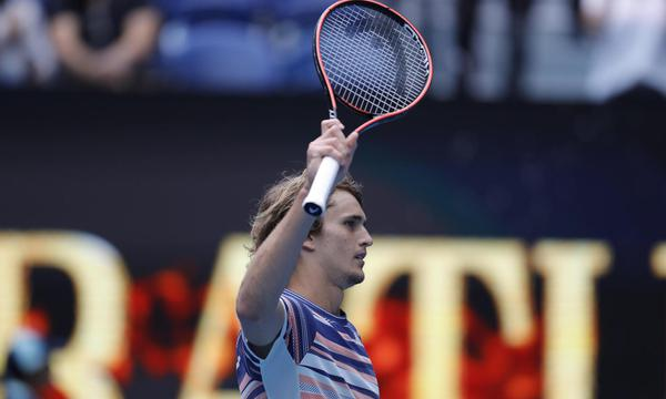 高清-新浪直击澳网兹维列夫晋级32强